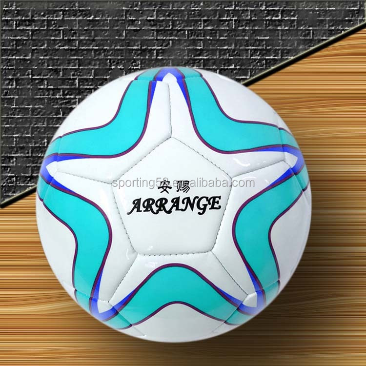 custom Size 5 JFFB123 turquoise five stars painting top selling euro 2016 football