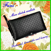 Fashional design leather clutch wallets for men personalized with high quality