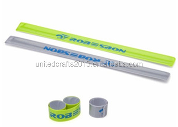 Advertising gift reflective band PVC reflective band Pat on band