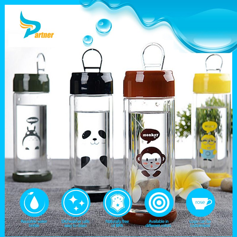 New Products 2016 Healthy Protable Glass 750ml Sports Novelty Drink Bottles