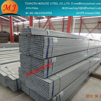 china hollow section square electrical conduit/tube/pipe galvanized/pre-galvanized alibaba china