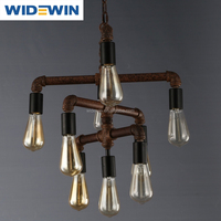 Water Pipe Pendant Light With bulbs/Oriental Lighting Pendent Light Industrial WW-AST-003
