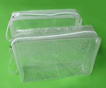 High Quality Clear PVC Cosmetic Bag Zipper Makeup Toiletry Travel Bag Waterproof Wash Pouch