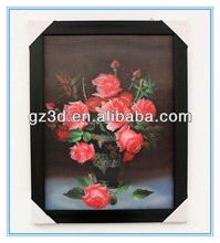 New arrival 100% handmade room decor 3d flower decorative wall stickers abstract oil painting