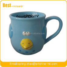 CUTE BLUE BIRD CRITTER MUG
