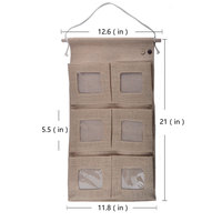 wholesale leading manufacturer New style vintage jute hanging wall mounted storage bag