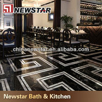 High Quality Black and Gold marble tiles