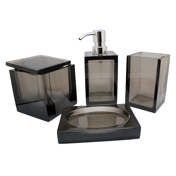 Resin Material and Eco-Friendly Feature set 4 ceramic hotel collection bath accessories