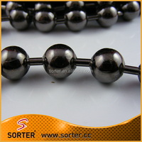 Durable shimmer gunmetal metal ball chain hotel decoration