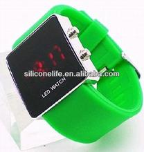 world cup 2014 silicone sport mirror led watch hot silicone watches