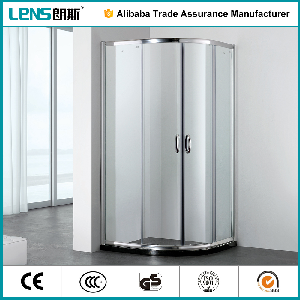 Famound In China Aqua Bearing Steel Roller Sliding Glass Shower