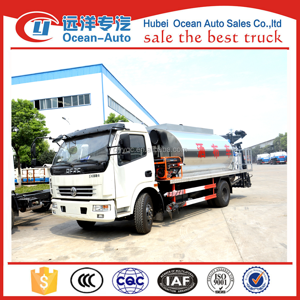 Low Price! China DFAC Used 6 cbm Asphalt Tank Truck for Sale