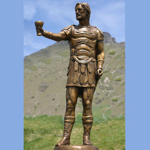 Custom Sculpture Bronze Monument Statue for Roman Warrior Hero