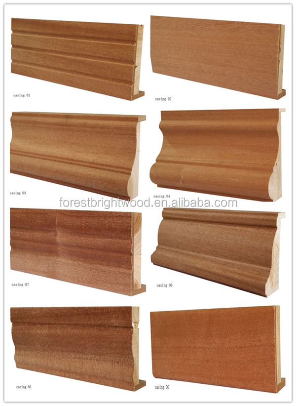 Veneered wooden door casing architraves wood moldings - Molduras de madera para pared ...
