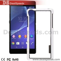 Dual-color Design Hybrid TPU+PC Hard Bumper Frame Protective Case for Sony Xperia Z2 L50W D6502 D6503 (Black+White)