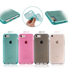 new design for iphone 7 full cover transparent clear tpu case, for iphone 7 tpu case, for iphone 7 tpu