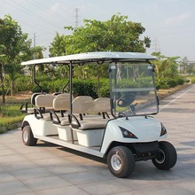 Marshell Produce Red 8 Seat Electric Shuttle Golf Car (DG-C6+2)
