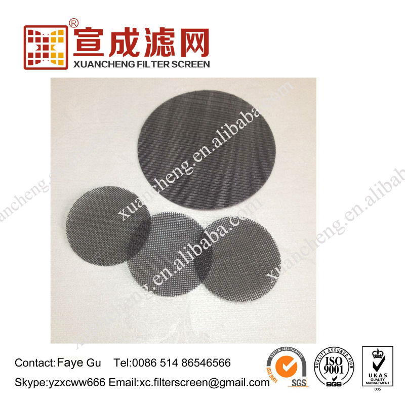 Black Wire Mesh Filter Discs for PP PE plastic recycle