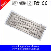 Vandalproof Industrial Metal keyboard for Kiosk