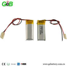 GEB 602530 li-polymer battery 3.7v 260mah gps tracker with one year battery