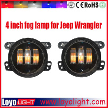 hot sale 30w 4'' black/chorm wrangler fog lights with Emark E9 DOT