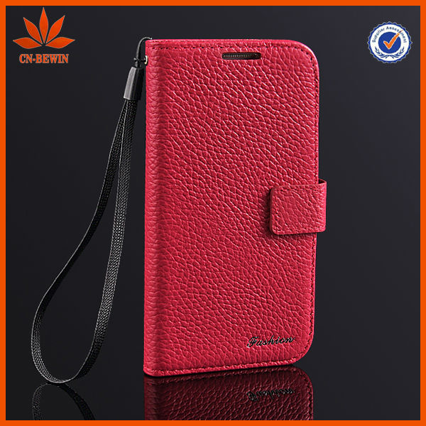 Mobile phones cases for samsung s4 case with high quality genuine leather