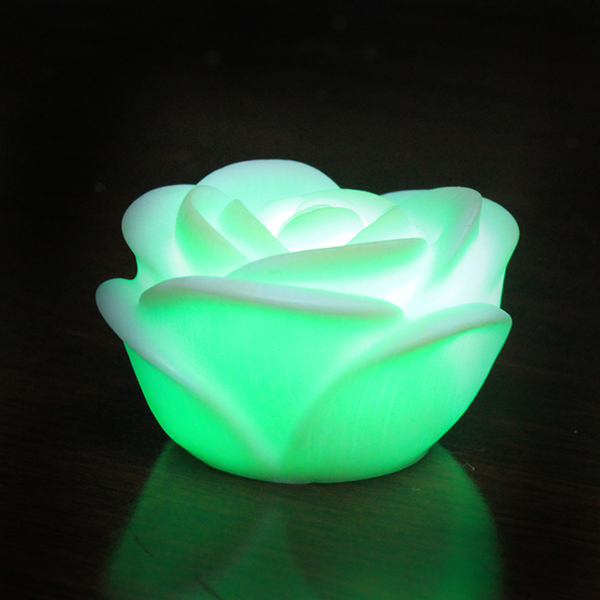7 Color Changing Rose Shaped Table Lamp