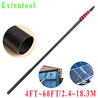 Exteneool telescopic gutter cleaning tools with ceiling cleaning dust brush and brush extension handle