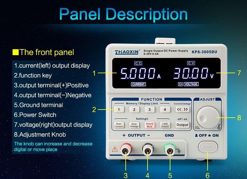 ZHAOXIN KPS-3005DU programmable Laboratory Switching Power supply
