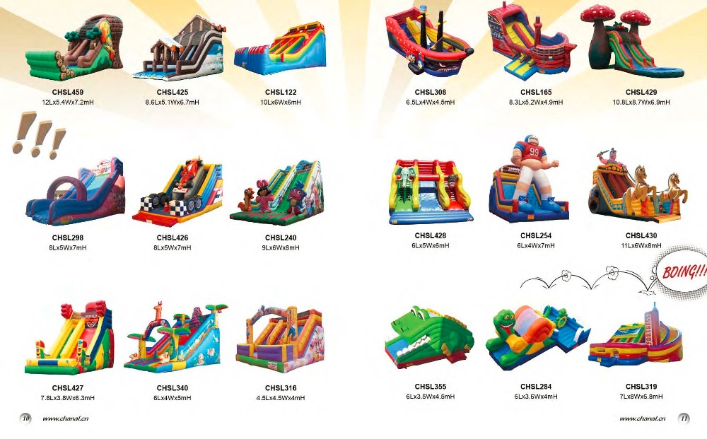 Kids Inflatable Jumping Castle With Big Slide, Spider Climbing Inflatable Slide
