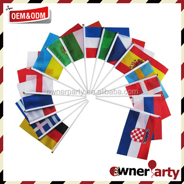 Good Quality Hand Held Flags Custom Hand Flags Football Fans Use Polyester Hand Flags