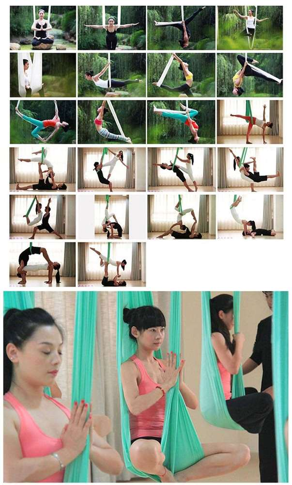 Free Shipping 5M Elastic Anti-gravity Multifunctional Aerial Yoga Hammock Swing Belt