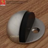 Retail floor mounted door stop glass door stopper hardware doorstops