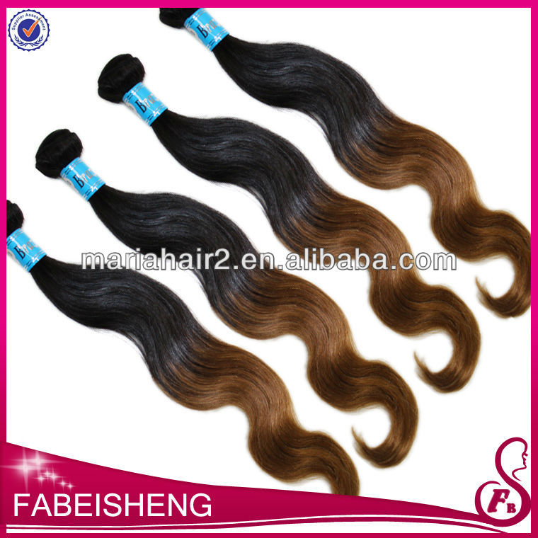 2013 quality brand 100% human hair two tone remi hair extens