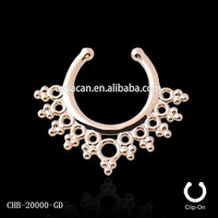 316l Surgical Steel Fake Septum Ring Vibrating Body Piercing Jewelry Free Nose Ring