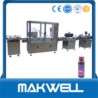 glass vial bottle washing sterilizing filling capping machine with high quality