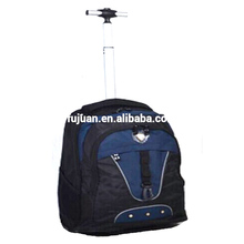 New Stock Nice Design Nylon 2 Wheels Trolley School Bag Wholesale 4 Colors