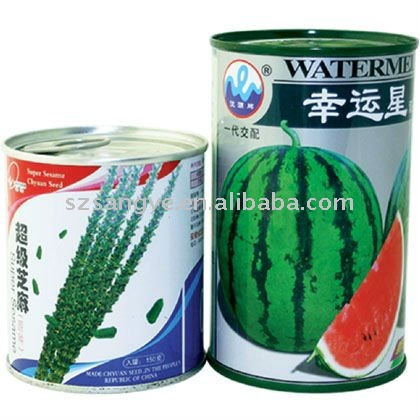 Seed packing tin can