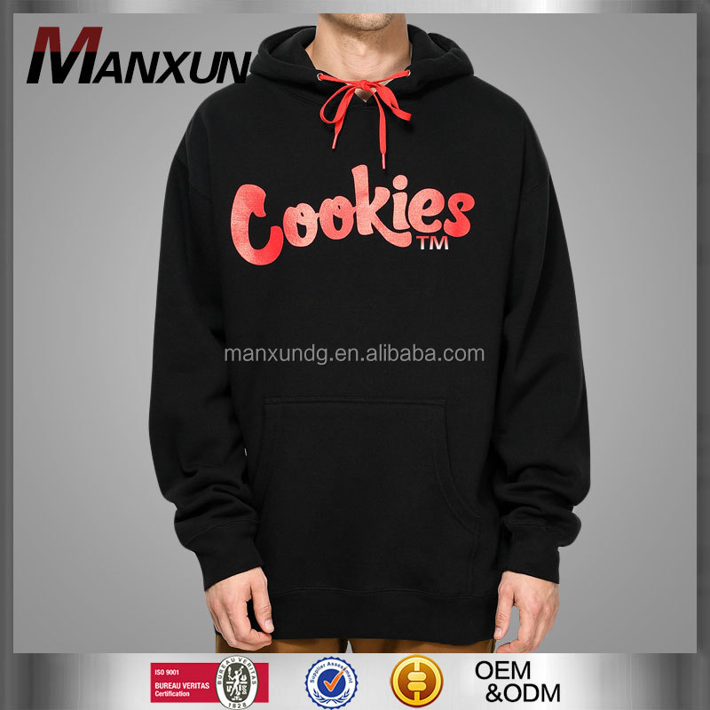 Top Quality Sweatshirt Hoodies Customized Logo Printing Color Size Hoody Sweatshirts Cookies TM Black And Red Men Hoodie Top