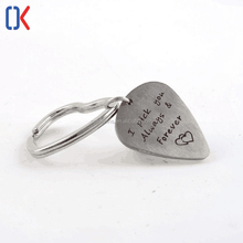 promotional cheap silver heart shape delicate metal key chain ring