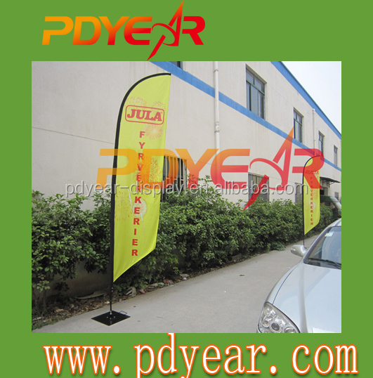 outdoor advertising roadside flag banners for promotion