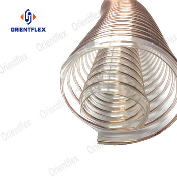 China manufacturer soft tensile strength mpa polurethane pu steel wire 4 inch flexible duct manufacturers