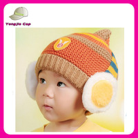 warm headphones knitted caps crochet beanie hat for baby