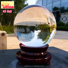 Hot Sale Home Decoration Transparent K9 Crystal Ball Wholesale Glass Globes
