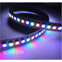 Silicon tube coating ip65 5050rgb magic color pixel strip with ws2812 ws2812b