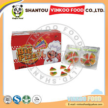 hot sale pizza shape fruit soft gummy candy for sale