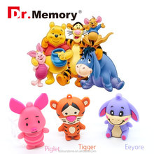 Dr.memory Disney series pendrive Winnie the Pooh usb flash drive hot Piglet/Tigger/Eeyore shape usb 2.0 stick usb gift for kids