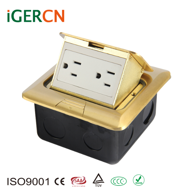 110V 15A USA style New elegant design Floor Mounted Pop Up Electrical Power Outlet Box