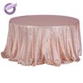 TX28043 Wholesale wedding decoration gold sequin embroidery table cloth
