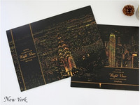 New York design diy toys scratch night view picture for relieve stress